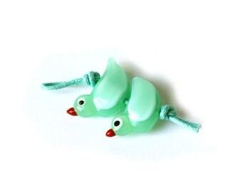 Blue Bird Earring pair
