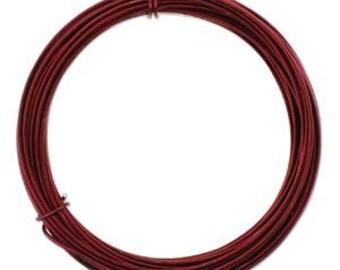 420234 Anodized Aluminum Craft Wire 12 Gauge 39 Feet  OX BLOOD