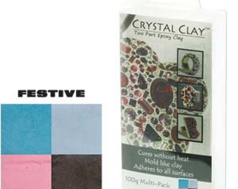 Crystal Clay 2-Part Epoxy Clay Kit - Festive Color Mix 100g 45215