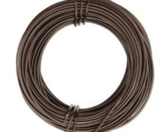 18 Gauge 39 Feet Anodized Aluminum Craft Wire MATTE BROWN 420238
