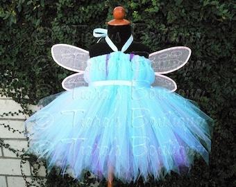 Abby Cadabby Inspired - Custom SEWN Tutu Dress - Belted Pixie Tutu Dress - up to 20'' long - sizes Newborn to 24 months