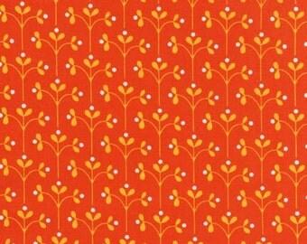 Orange Flowers, Little Kukla by Suzy Ultman for Robert Kaufman, Last 29 Inches
