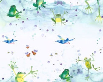 Forest Wonder By Masha D'Yans in Frogs in the pond on white, yard