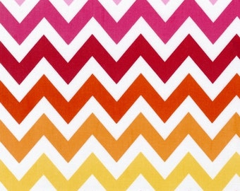 Remix fabric by Ann Kelle for Robert Kaufman, Remix Large Chevron in Garden,Last 25 Inches