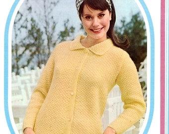Vintage Knit Cardigan Pattern- PDF
