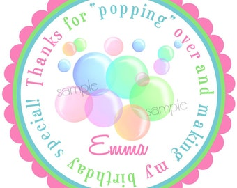 Bubble Stickers, Blowing Bubbles, NEW Bubbles, Birthday party, Summer, Fun, Pool Party, Birthday, Children,Favor, Set of 12