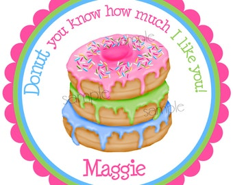Donut stickers, Donut party, Stack of Donuts, sprinkles Sweet, Candy,Treats, Baking, Labels,  set of 12