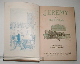 Jeremy by Hugh Walpole - Tales of a Young Boy Growing Up - First Edition 1919 Childrens Book Sophisticated Young People Read