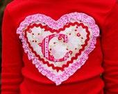 Boutique Custom Girls Valentine's Day Monogrammed Shirt - 3m - 12 - Caroline's Closet
