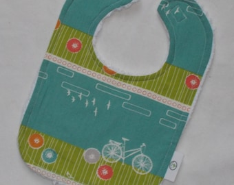 Organic Commute Bicycle and Chenille Bib - SALE