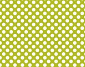 FABRIC SALE, Little Matryoshka Dots Green Lime by Carly Griffith  Riley Blake Fabrics by the Yard