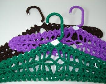Sweater Hangers Lingerie Hangers - Set of 3 Purple Green Brown