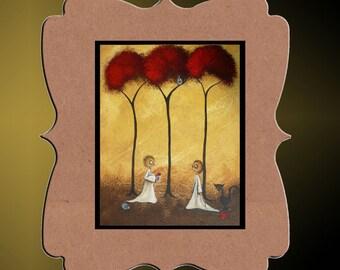Whimsical Creeper Art Print  - Art  Prints and Posters Giclee -- Jar of Hearts -- 8x10 - Hedgehog - Owl - Black Cat