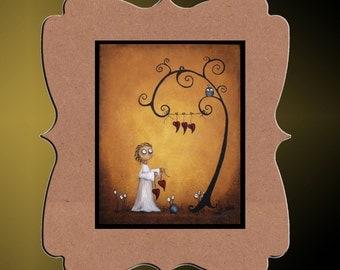 Whimsical Creeper Art Print -- Art  Print Giclee -- On the Line