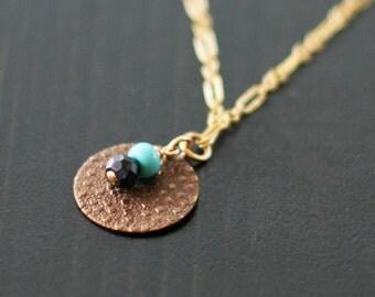 oaxaca - gold textured necklace by elephantine