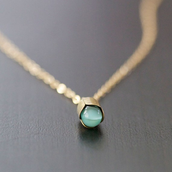 alain in blue - gold and bronze necklace by elephantine