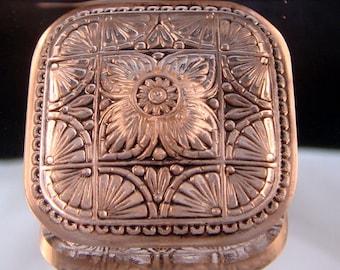 Czech Glass Button - 32.7mm Square