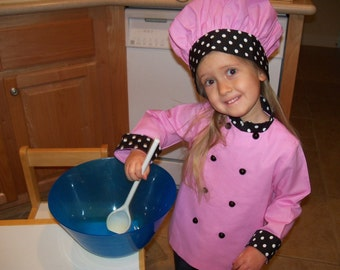 Child's Chef's Coat and Hat - Mom's Little Helper, Sizes 12 mos. - 4