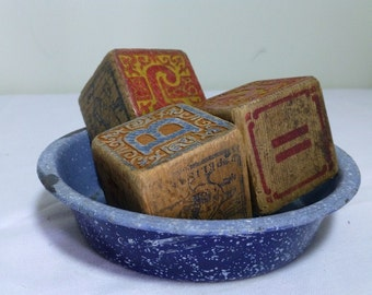 Small Blue Graniteware Bowl