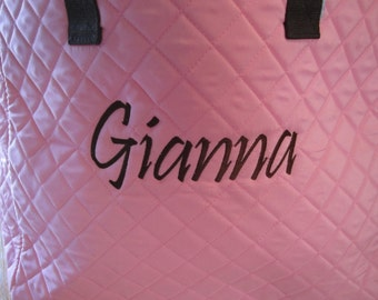 PERSONALIZED Extra Large Quilted Tote Bag