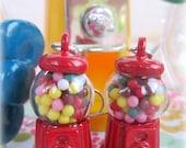 Rainbow gumball machine earrings