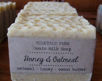 Goat's Milk, Honey, & Oatmeal - unscented soap with cocoa butter and ground oatmeal