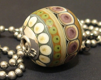 Handmade Necklace Lampwork Glass Bead Focal SRA AKDesigns Garden of Solitude