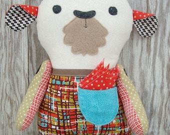 Goat Pattern Plush Stuffie stuffed animal Download Pattern Now