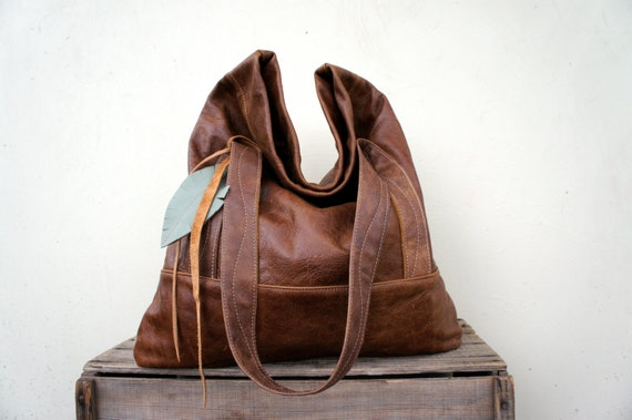 SALE//// XL Luella in Distressed Brown Leather