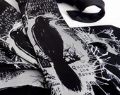 Nevermore Men's Necktie, Edgar Allan Poe Raven Tie, English Teacher Gift, Book Tie, Literary Gifts for Book Lovers