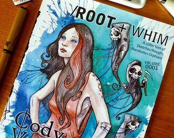 Root & Whim Art Book by Cody Vrosh - Illustration, Science Fiction Art, Fantasy Art, Pop Art, Ink Drawings, Sketch Book Gift