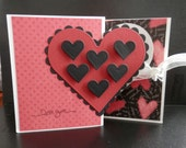 Valentine Greeting Card Red and Black