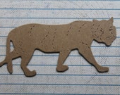 3 Bare chipboard tiger diecuts 3 7/8 inches wide