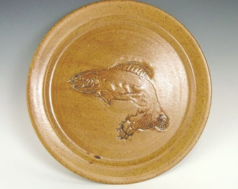 Pottery Serving Platter Fish Design