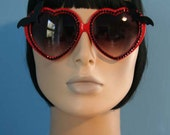 Batty Sweetheart Red Sunglasses Accessory Sunnies Cute Kawaii Lolita Retro by Cutie Dynamite