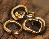 Six Perfect Bronze Artisan Open Jump Rings