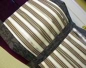 2 Striped Regency Inspired Aprons - Reserved for Margaret Bloom
