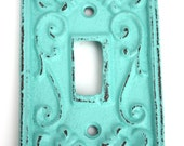 Shabby Cottage Chic Cast Iron Switch Plate Cover