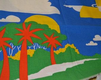 Fabric Prehistoric Panorama Dinosaurs