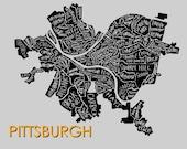 Pittsburgh Neighborhood Print
