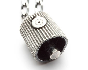 Silver spray can nozzle necklace - Tag'n Run - RedSofa jewelry