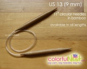 Custom for Carmen US 8, MICRO LENGTH Circular Knitting Needles - bamboo with plastic tubing 9 inch 10  11 or 12 inch