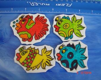 Mosaic Tiles DOODLE FISH set 3 Mosaic Tile