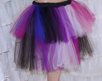Purple Dark Faerie Striped Tutu adult Medium MTCoffinz --- Ready to Ship
