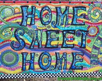 Home Sweet Home Mosaic Housewarming Art