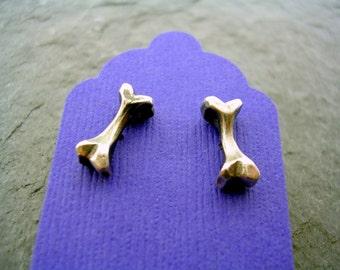 Bone Stud Earrings