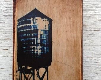 Wall Art - NYC Blue   Watertower-   2 -  Photo 4x6