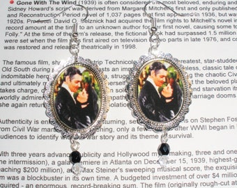 Gone with the Wind earrings altered art jewelry wearable art