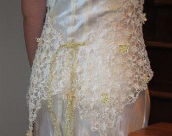 Art Deco Lace and Satin Beach Wedding Dress Sale