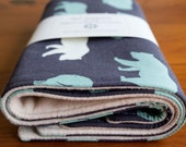 Organic Burp Cloths, Set of Two in Bear Shadow, LAST SET
